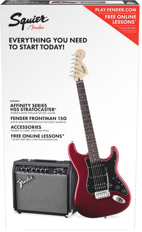 Squier Strat Pack HSS - Candy Apple Red image 1