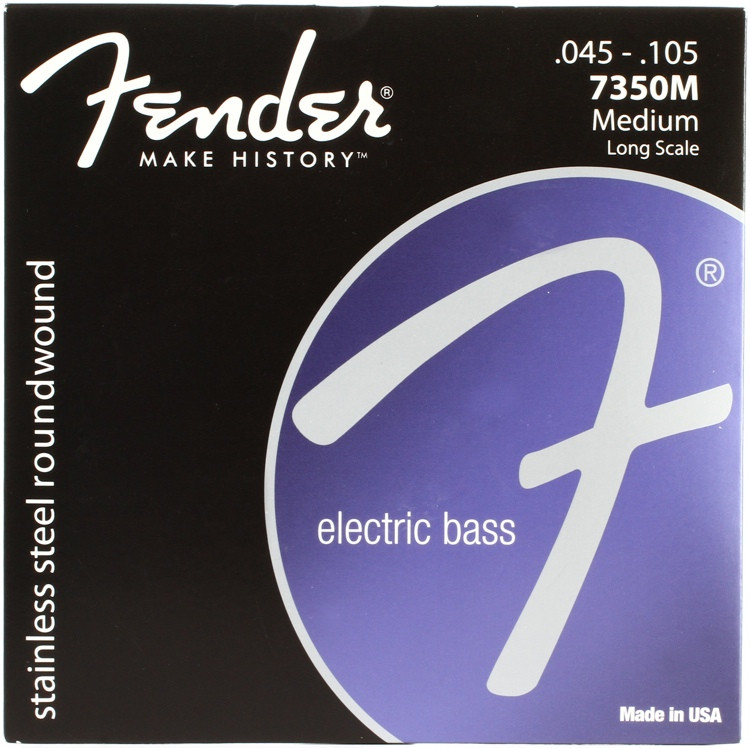 Fender 7350M Stainless Steel Roundwound Long Scale Medium Bass Strings image 1