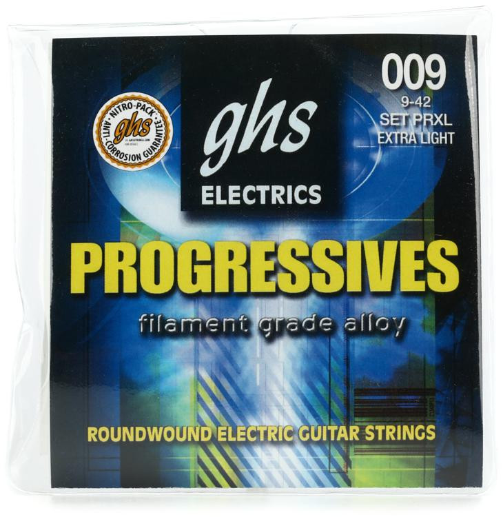 GHS PRXL Progressives Roundwound Extra Light Electric Guitar Strings image 1