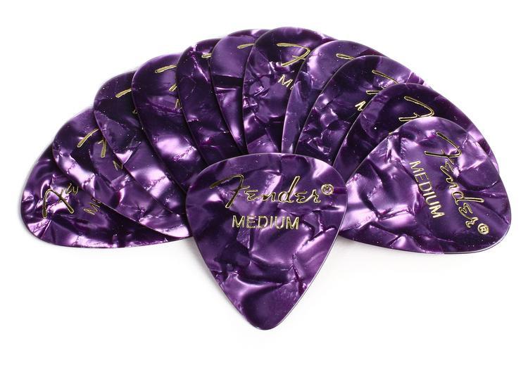 Fender 351 Premium Guitar Picks - Medium Purple Moto - 12-Pack image 1