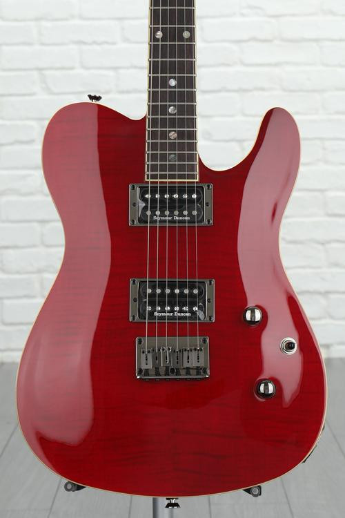 Fender Custom Telecaster FMT HH - Red Trans with Rosewood Fingerboard image 1