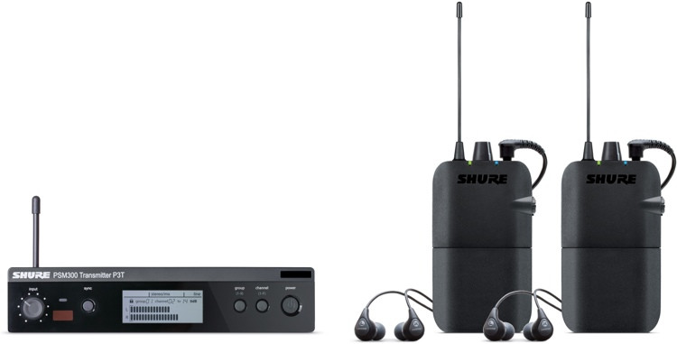 Shure PSM300 Wireless Dual In-ear Monitor System - H20 Band image 1