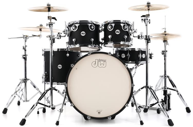 DW Design Series 5-piece Shell Pack - Black Satin image 1