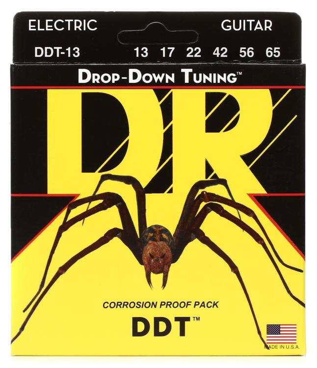 DR Strings DDT-13 Drop-Down Tuning Nickel Plated Steel Mega Heavy Electric Guitar Strings image 1