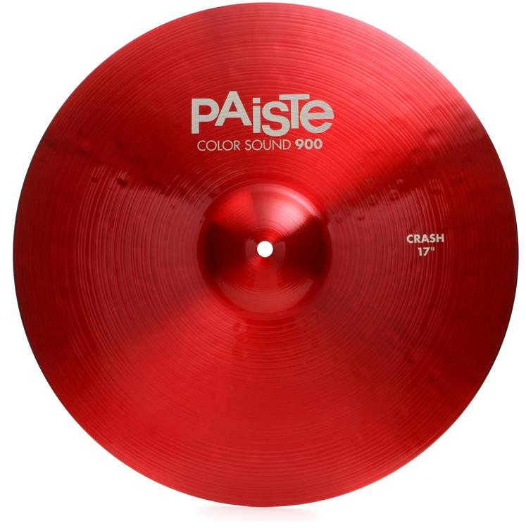 paiste color sound 900 crash cymbal 17 red sweetwater. Black Bedroom Furniture Sets. Home Design Ideas