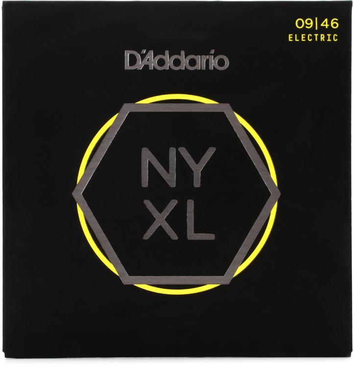 D\'Addario NYXL0946 Nickel Wound Electric Strings .009-.046 Super Light w/Regular Bottom image 1