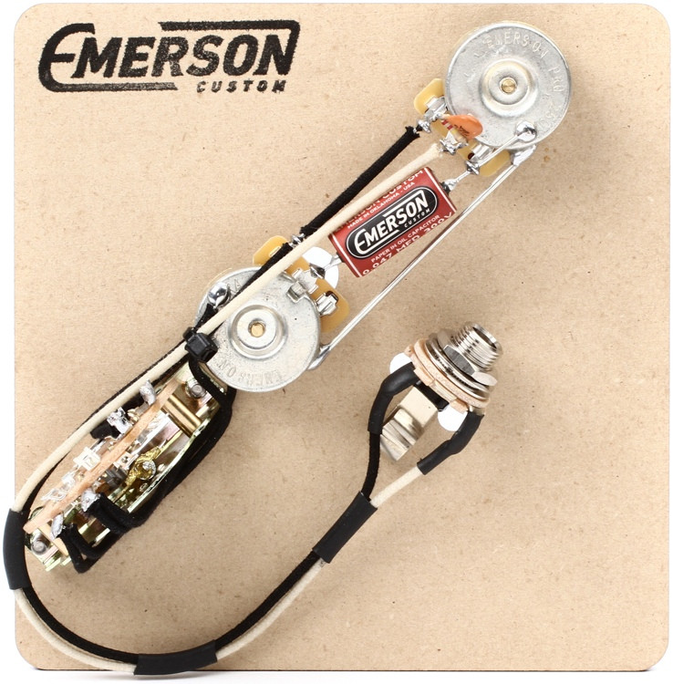 Emerson Custom 3-way Reverse Layout Prewired Kit for Fender Telecasters - 250k Pots image 1