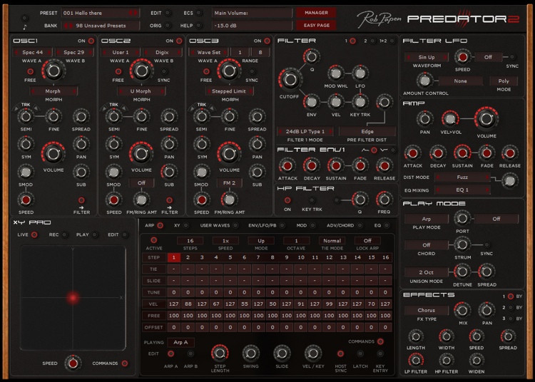 Rob Papen Predator 2 Analog-style Virtual Synthesizer image 1