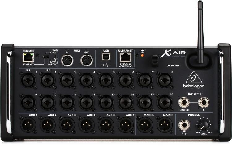 behringer x air xr18 tablet controlled digital mixer sweetwater. Black Bedroom Furniture Sets. Home Design Ideas