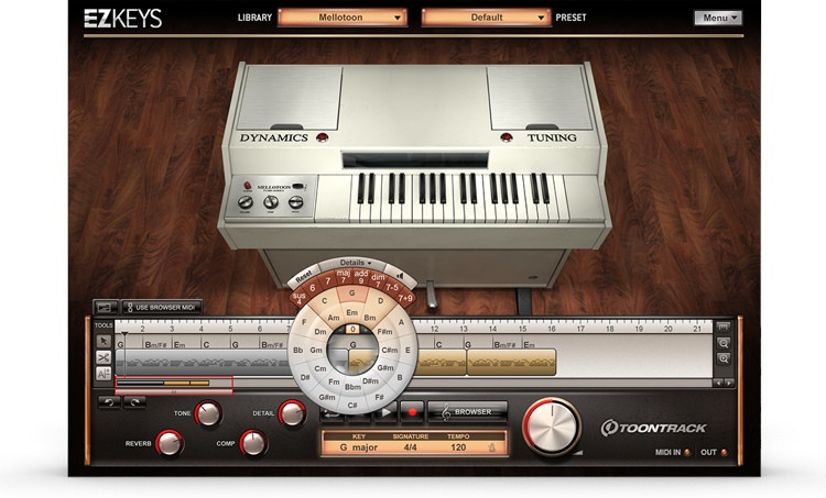 Toontrack EZkeys Mellotoon Songwriting Software and Virtual Mellotron image 1