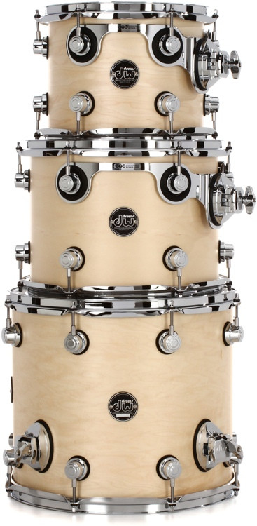 DW Performance Series 3-piece Tom Pack - Natural Satin Oil image 1
