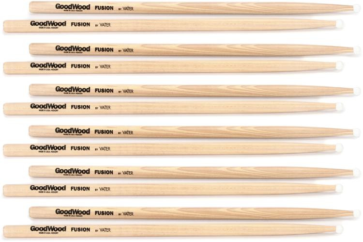 Goodwood US Hickory Drumsticks - 6 Pair - Fusion - Nylon Tip image 1