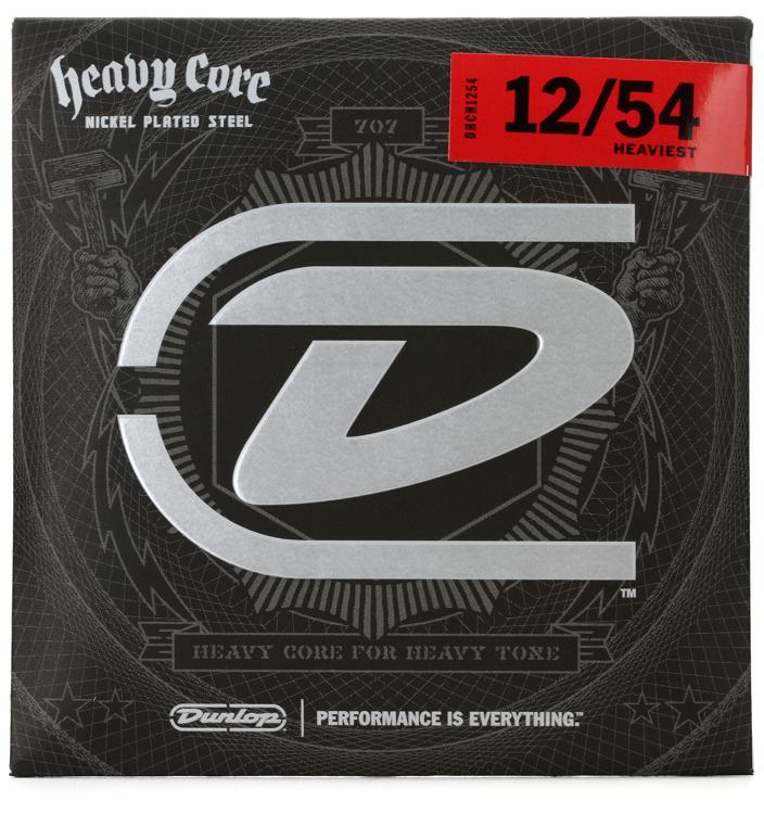 Dunlop DHCN1254 Heavy Core NPS Electric Strings - .012-.054