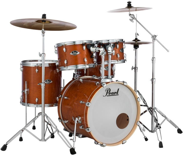 Pearl Export EXL 5-piece Shell Pack with Snare Drum - Honey Amber image 1