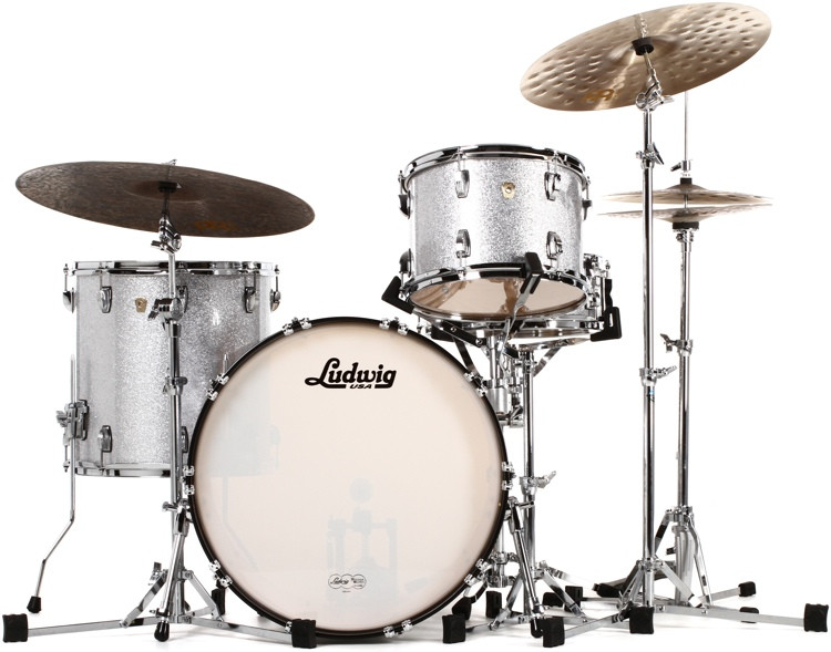 Ludwig Classic Maple Fab 22 Shell Pack - Silver Sparkle image 1