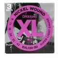 D'Addario EXL120-3D Nickel Wound Super Light Electric Strings 3-pk