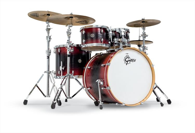gretsch drums catalina ash 5 piece shell pack w snare drum red black burst sweetwater. Black Bedroom Furniture Sets. Home Design Ideas