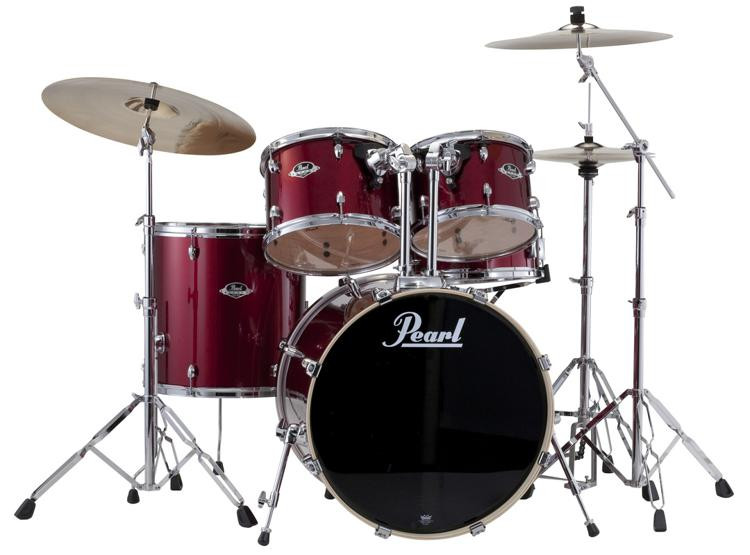 Pearl Export EXX 5-piece Drum Set With Hardware - Standard Configuration - Red Wine image 1