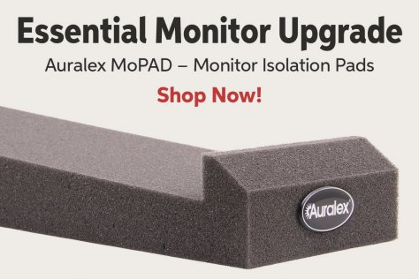 Essential Monitor Upgrade Auralex MoPAD - Monitor Isolation Pads Shop Now!