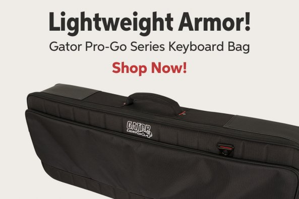 Lightweight Armor! Gator Pro-Go Series Keyboard Bag Shop Now!