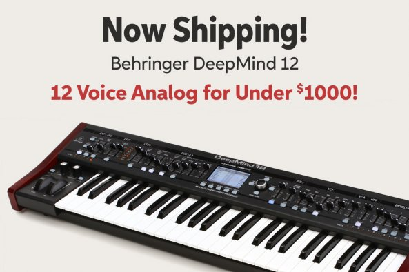 Now Shipping! Behringer DeepMind 12 12 Voice Analog for Under 51000!