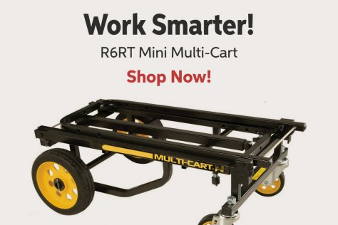 Work Smarter! R6RT Mini Multi-Cart Shop Now!