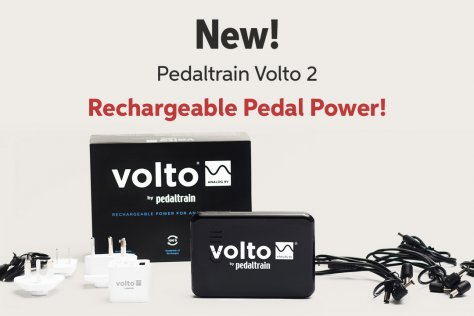 New! Pedaltrain Volto 2 Rechargeable Pedal Power!