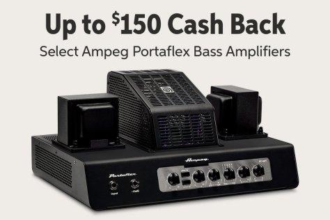 Up to $150 Cash Back Select Ampeg Portaflex Bass Amplifiers