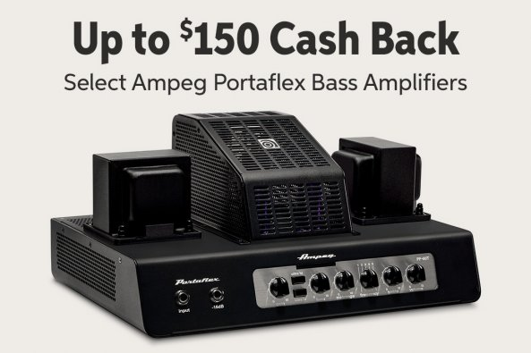 Up to $150 Cash Back Select Ampeg Portaflex Bass Amplifiers