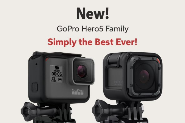 New! GoPro HeroS Family Simply the Best Ever!