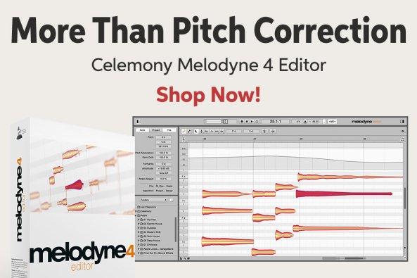 More Than Pitch Correction Celemony Melodyne 4 Editor Shop Now!