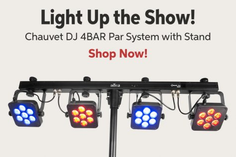 Light Up the Show! Chauvet DJ 4BAR Par System with Stand Shop Now!