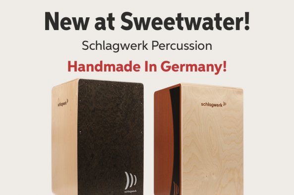New at Sweetwater! Schlagwerk Percussion Handmade In Germany!
