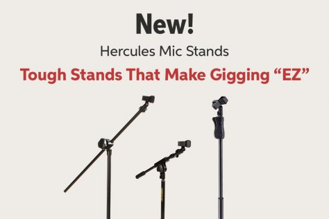 New! Hercules Mic Stands Tough Stands That Make Gigging WP