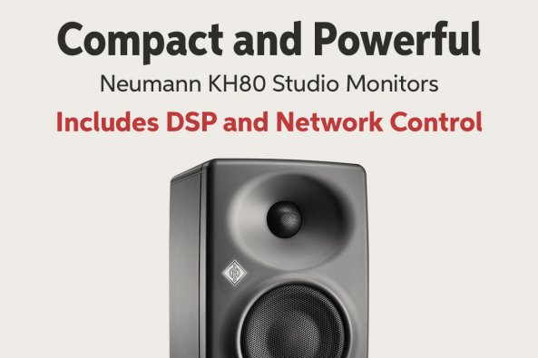 Compact and Powerful Neumann KH80 Studio Monitors Includes DSP and Network Control