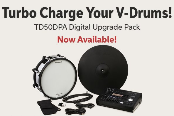Turbo Charge Your V-Drums! TD50DPA Digital Upgrade Pack Now Available! A