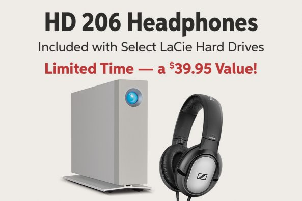 HD 206 Headphones Included with Select LaCie Hard Drives Limited Time _ a $39.95 Value!