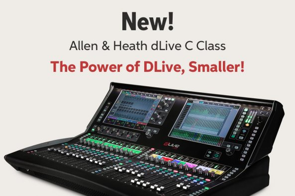 New! Allen 8e Heath dLive C Class The Power of DLivee Smaller!