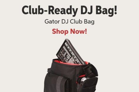 Club-Ready DJ Bag! Gator DJ Club Bag Shop Now!
