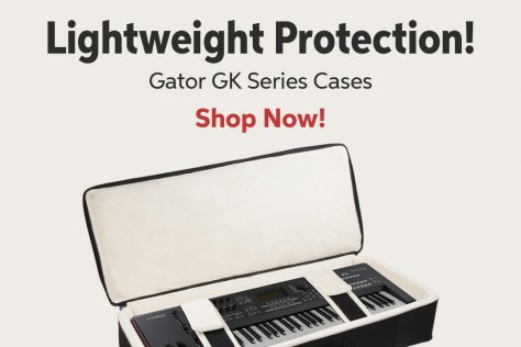 Lightweight Protection! Gator GK Series Cases Shop Now!