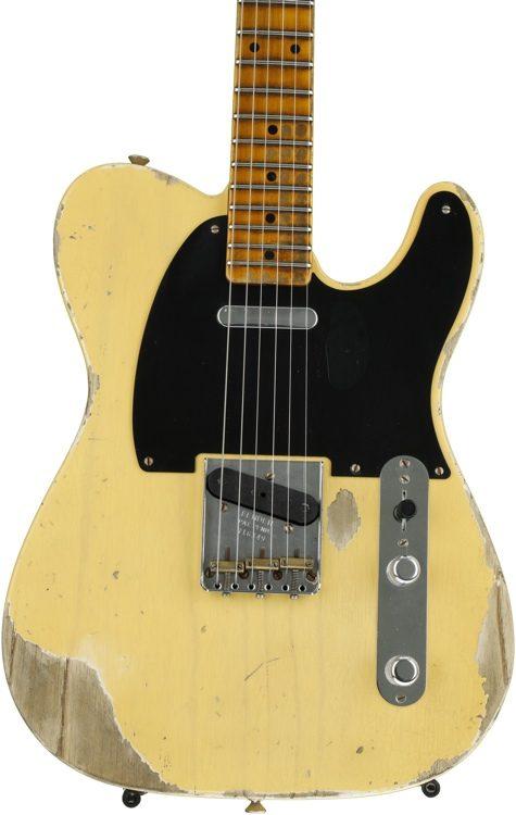 fender custom shop 1952 time machine heavy relic telecaster nocaster blonde image 1