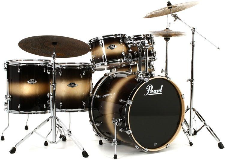 Pearl Export Exl 6 Piece Rock Drum Set With Hardware Nightshade