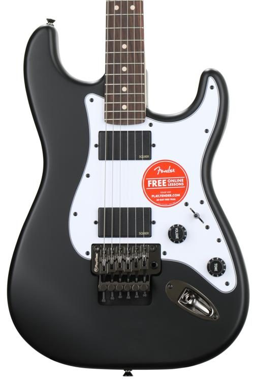 squier contemporary active stratocaster hh flat black sweetwater