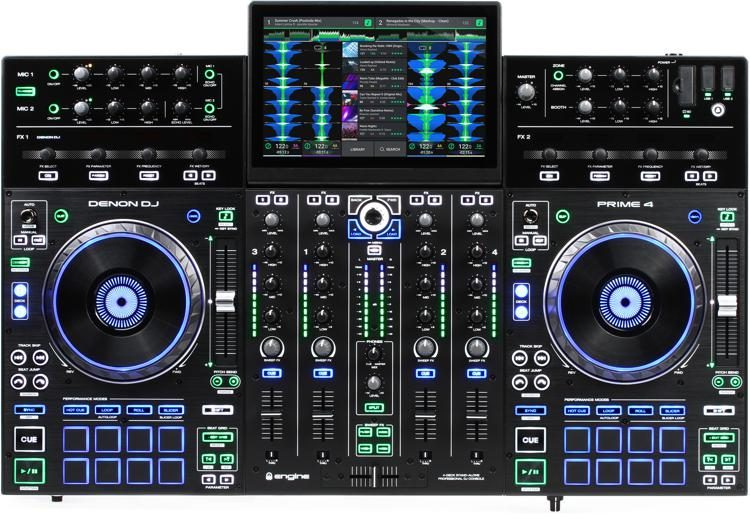 Denon Dj Prime 4 Standalone System With Free Usb Thumb Drive And Case From Magma