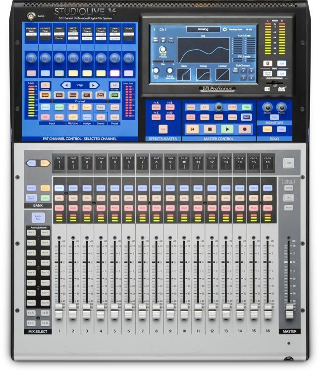 presonus studiolive 16 series iii digital mixer sweetwater rh sweetwater com StudioLive with External Pre Amp