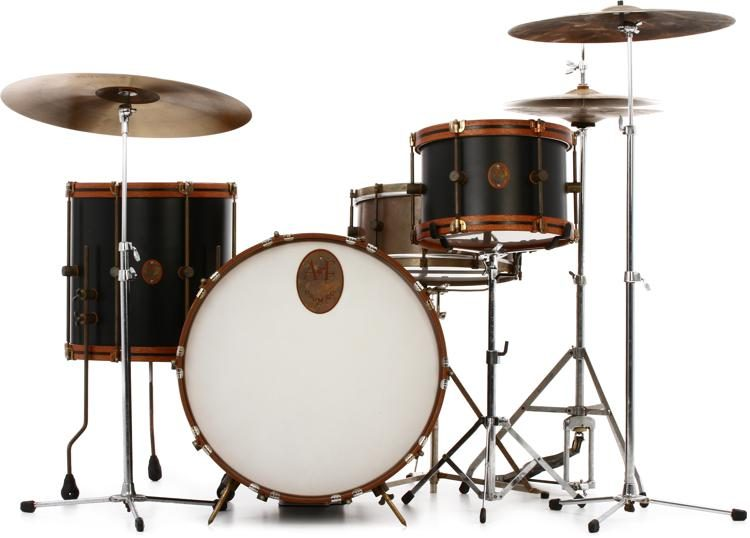 A&F Drum Company Black Club 3-piece Shell Pack | Sweetwater