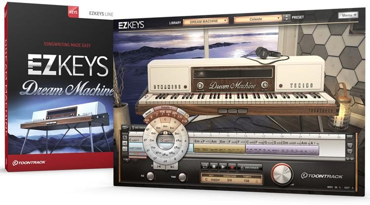 EZkeys Dream Machine Songwriting Software and Virtual Pianos