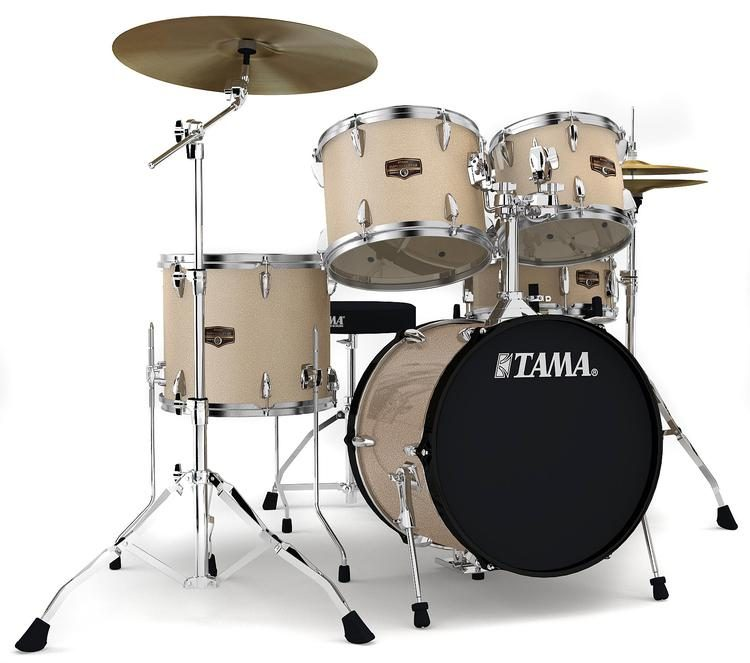 Tama Imperialstar Complete Drum Set 5 Piece 18 Kick Champagne Mist