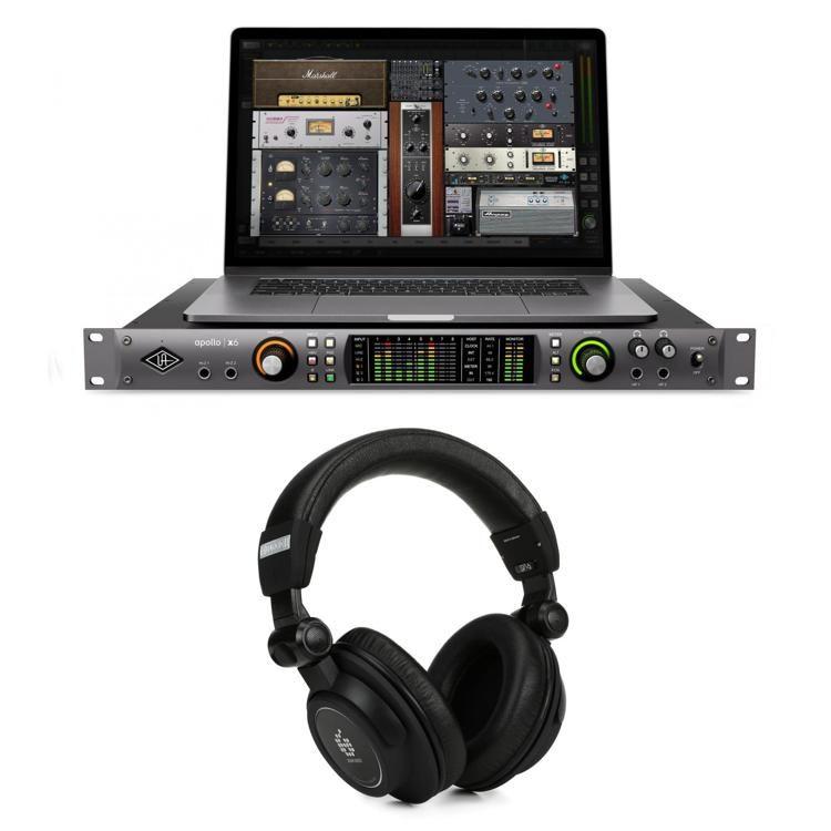 Apollo x6 Thunderbolt 3 Audio Interface and Headphones Bundle