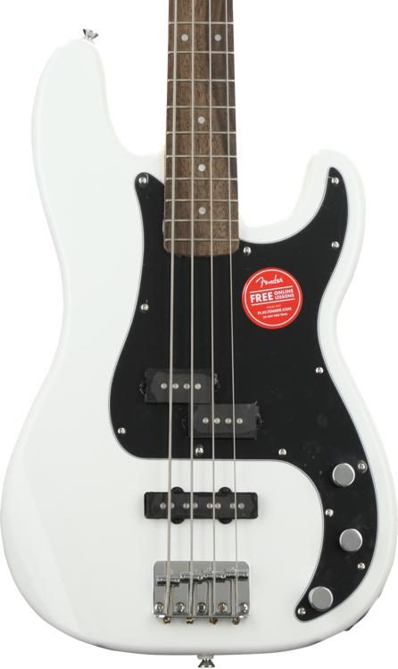squier affinity series precision bass pj olympic white w indian
